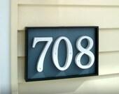 GARDENmarx shadow box address plaques