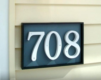 GARDENmarx shadow box address plaques