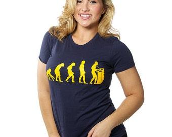 DJ Evolution T-Shirt Retro Club Rave Electro Hip Hop Trance Dubstep Trap House Music Tee Shirt Tshirt Mens Womens S-3Xl Great Gift Idea