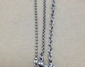 Stainless Steel Chain - Necklace Chain - Ball Chain - Link Chain - Rolo - Oval Chain - Cable - Cross Chain - Copper - Leather Cord