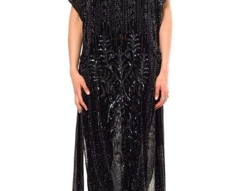1920s Vintage Art Deco Beaded Dress Size: S/M/L