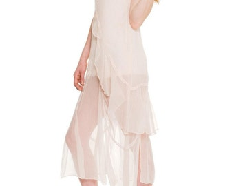 1990-1994 Does The 1920s/30s Chiffon Dress Size: XS/S/M