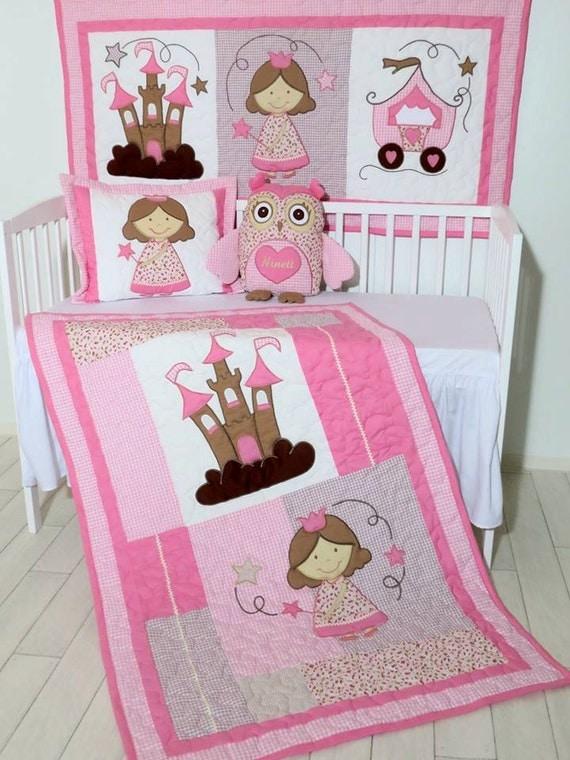 Pink Baby Crib Set