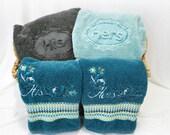 Embossed Supima Cotton Bath Towels, Set of 2