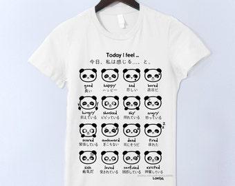 Japanese Panda Emoticon T-Shirt