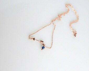 Little arrow necklace. Minimalist necklace. Gold plated arrow necklace. Chain Necklace. Layered necklace