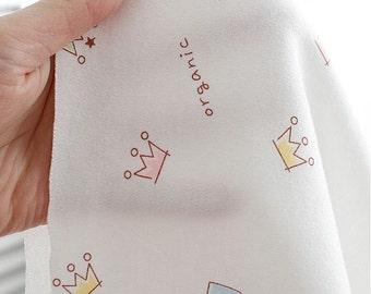 Organic Cotton Interlock Knit - Tiara or Solid - By the Yard - 70506