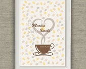 Wedding Guest Book Alternative for coffee lover couple. Printable file - Wedding in Italy - Italian Wedding