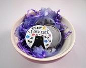 I Like Cats Pocket Mirror - Cat Mirror - crazy cat lady - cat illustration - cute cat - cat gifts - cats - Kitty - kittens - I like cats