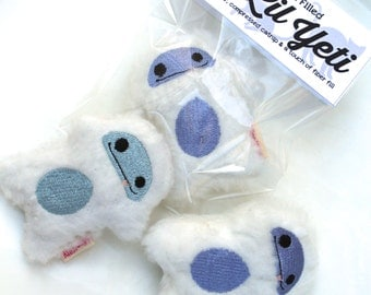 Catnip Yeti Abominable Snowman Furry White Kitty Toy