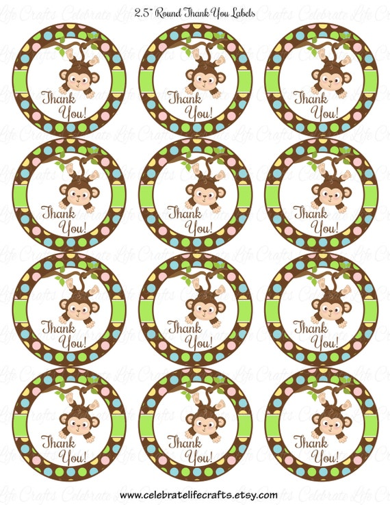 Baby shower printable 25 inch round labels favor tags for 5 inch round labels