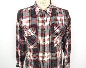 Rugged Red Flannel Red Amp Black Plaid Shirt By Companyman