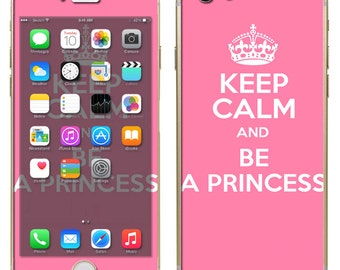 iPhone 6 ~or~ iPhone 6 Plus + - Keep Calm and Be a Princess Pink Cute - Vinyl Skins Decal Wrap - Free Shipping - NOT a HARD CASE