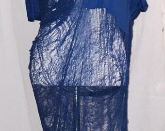 shredded tshirt dress