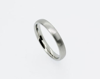 Thin white gold wedding band, gold ring, yellow gold, rose gold, matte ring, simple wedding band, men thin wedding ring, contemporary, band