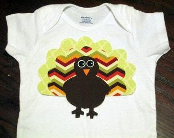 Thanksgiving Turkey Iron On Applique
