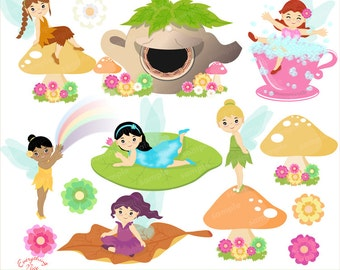 Cute Fairies Clipart Set