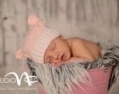 Pink Baby Bear Hat,Newborn Photo Prop,Baby Bear Pink Hat,Baby Girl Knit Hat,Infant Baby Girl Hat,Pink Teddy Bear Hat,Baby Girl,Knit Baby Hat