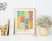 INSTANT DOWNLOAD, Books of the Bible Printable, No. 342