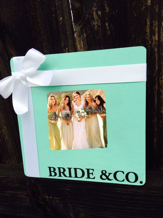 Bride Amp Co Wooden Photo Frame Tiffany Blue Bridal By SnootyBride