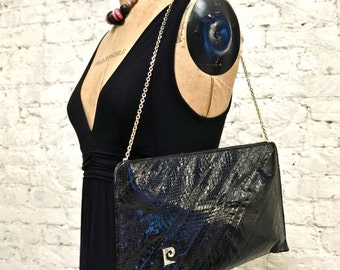 70s Pierre Cardin Snake Skin Shoulder Bag or Clutch