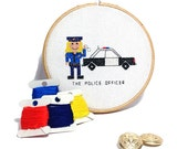 2 x Police officer cross stitch pattern. Police man and Police woman. DIY gift for police officer. Modern professions  designs