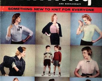 Vintage 1955 Smart Knitting and Needlecraft 16th Edition Knitting & Needlecraft Book
