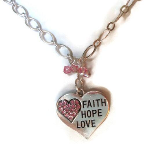 Faith hope love necklace scripture necklace christian for Faith hope love jewelry