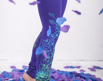 Violet fields - children leggings