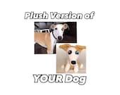 Custom Dog Stuffed Animal - Crochet Dog - Custom Plush Dog