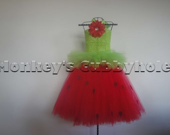 Strawberry and Cream Tutu Dress