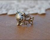 Fox Ring, Filigree Ring, Vintage-Style Ring
