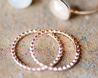 Ball Wire Rosé Gold Ring, Knuckle Ring Pink Gold,Stacking Rings, Bestseller Jewelry,Friendship Ring,Bridesmaids,Bride,Engagement