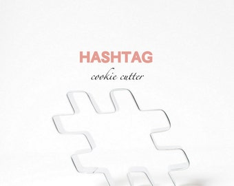 Hashtag Hash tag Cookie Cutter