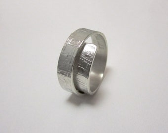 Sterling silver rolled up ring (narrow)