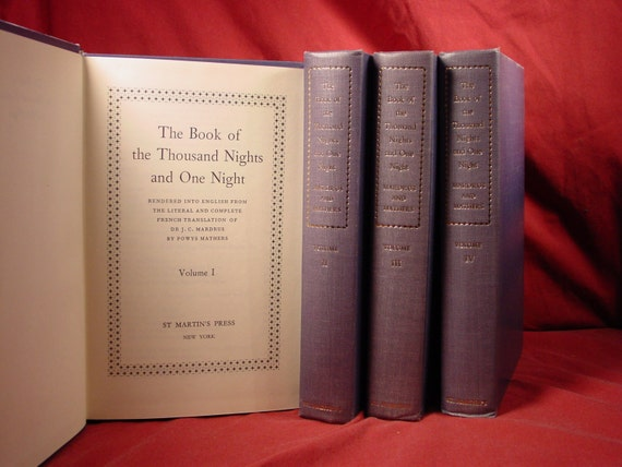 The Book Of A Thousand Nights And A Night Set Of Four Volumes Mardrus & Mathers Translation  Mythology Arabian Nights 1001 Nights Myth