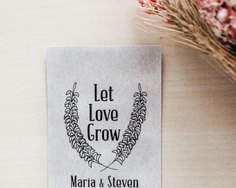 100 Customized Eco-Friendly Let Love Grow Wedding Seed Kraft Favor Envelopes