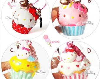 Rare* Hello Kitty Cupcake Squishy (Licensed)