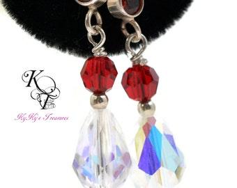 Garnet Earrings, Birthstone Jewelry, Garnet Jewelry, Birthstone Earrings, Garnet Crystal Earrings, Birthstone Jewelry, January Birthday Gift