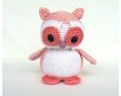 Crochet Owl Stuffed Animal in Pink