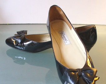 Vintage Made in Italy Rangoni Patent Leather  Pumps 9.5B US