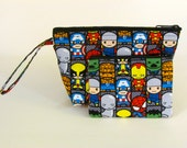The Avengers Chibi Make Up Bag and Coin Purse Set - Accessory - Cosmetic Bag - Pouch - Gift