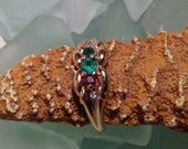 PRICED To SELL Estate 14K Solid Yellow Gold .64ct Emerald and Ruby with Diamond Accents Ring  - Size 9 Etsy andersonhs