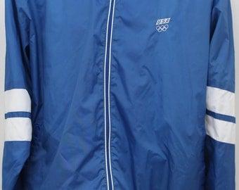 "90s Vintage ""Team USA Olympics"" Windbreaker Jacket Sz: X-Large (Men's EXCLUSIVE)"
