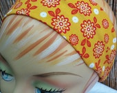 Flower Headband - 100% Cotton - Yellow & Red
