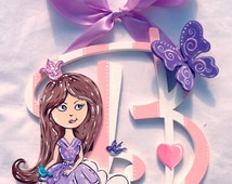 Princess On A Cloud Pink & White Painted Wood Wall Letters