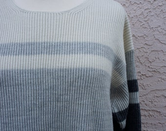 SALE Vintage Striped Ribbed Sweater