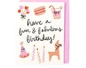 Fun & Fabulous Birthday Card