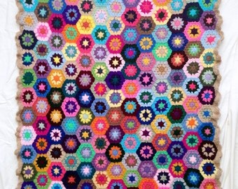 Crochet Motif Blanket - Hexagon