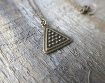 Dotted Bronze Triangle Necklace